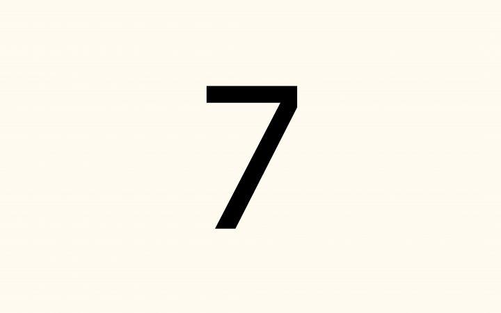 seven in Arabic