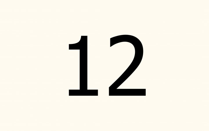twelve in Arabic