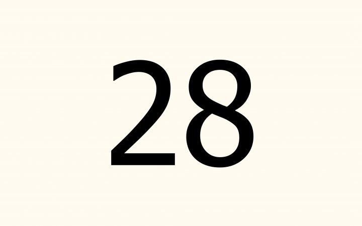 twenty eight in Arabic