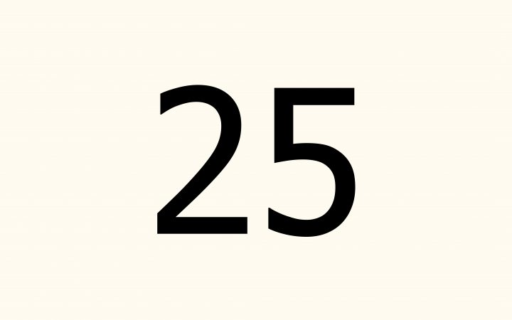 twenty five in Arabic