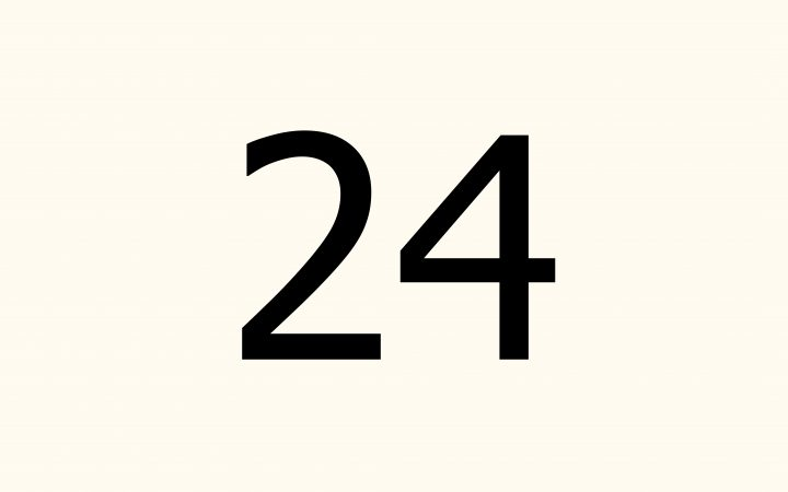 twenty four in Arabic
