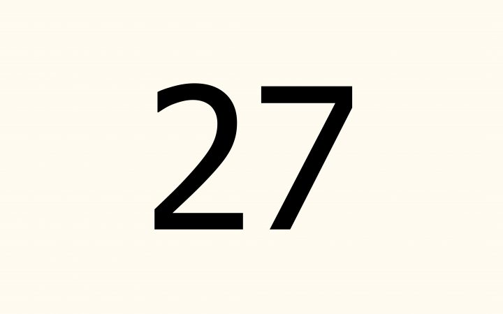 twenty seven in Arabic