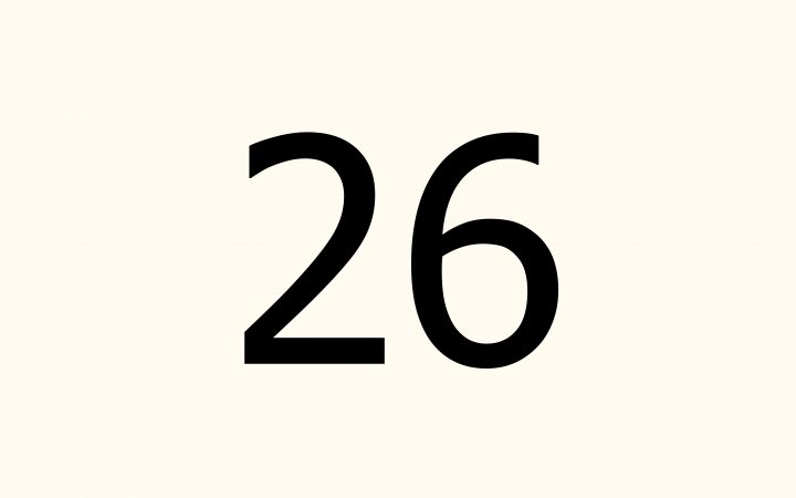twenty six in Arabic