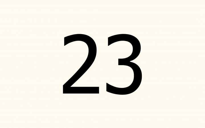 twenty three in Arabic