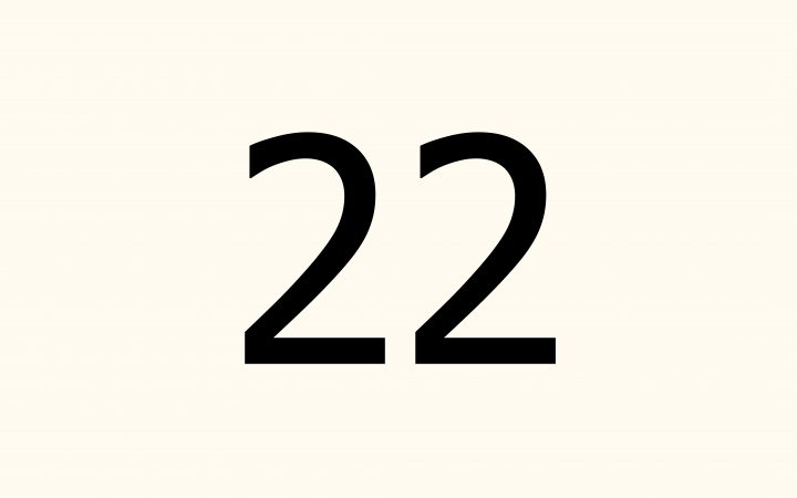 twenty two in Arabic